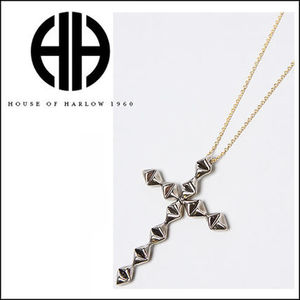 (最短翌日着)houseofharlow Double Sided Diamond Cross Pendant