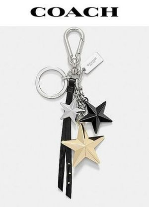 COACH MULTI metal stars bag charm