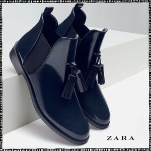 【期間限定】ZARA♪FLAT BOOTIES WITH TASSEL(RAIN BOOTS)★