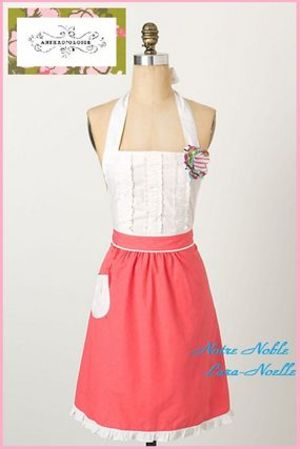 【Anthropologie】Tea-And-Crumpets Apron PINK