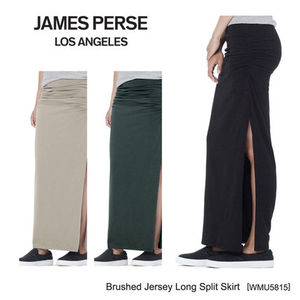 新作★JAMES PERSE Brushed Jersey Long Split Skirt [WMU5815]