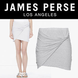 即発★パンツ【JAMES PERSE】CATIONIC DYED TWISTED MINI SKIRT