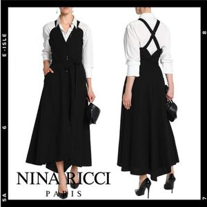 【NINA RICCI】button front wool twill Dress
