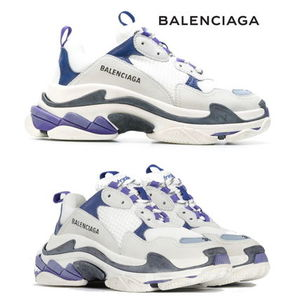 新色★BALENCIAGA Triple-S/White/Navy/Purple【関税込】