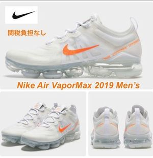 入手困難【NIKE】Air VaporMax 2019 MEN'S☆WHITE/ORANGE☆