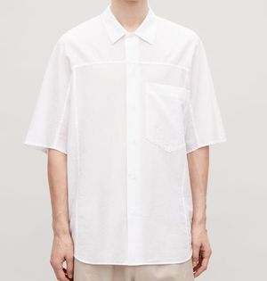 """COS MEN"" OVERSIZED LIGHT COTTON SHIRT WHITE"