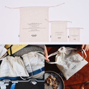 depound★multi pouch set/巾着ポーチ3枚セット 【追跡送料込】
