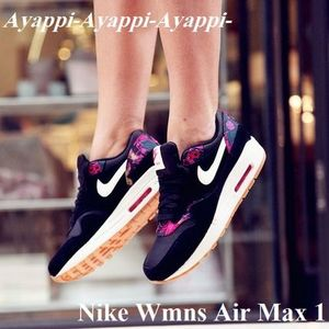 ★国内発送★ Nike Wmns Air Max 1 Print /Black×Pink Force