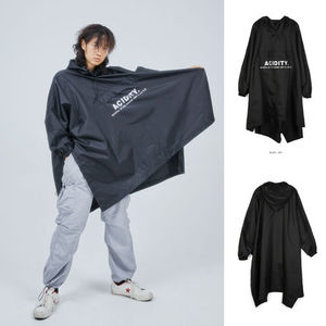 【OPENTHEDOOR】 PONCHO RAIN COAT (BLACK) - UNISEX