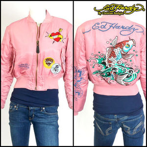 EdHardy(エドハーディ)ED Love Kills Jacket・Pink/XS