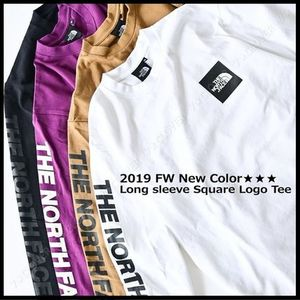 国内発送・正規品★THE NORTH FACE★L/S SQUARE LOGO SLEEVE TEE
