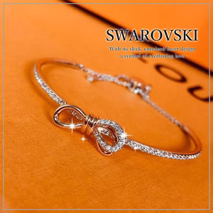 VIP価格【SWAROVSKI】 LIFELONG BOW バングル