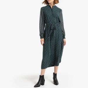 La Redoute Floral print shirt dress, long