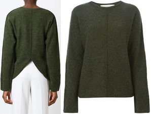 15AW SM052 STELLA McCARTNEY back slit sweater