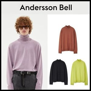 [ANDERSSON BELL] (MEN)MARCO CASHMERE ROLL NECK SWEATER