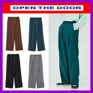 [OPEN THE DOOR]   mini wrap wide slacks (4色) /追跡付