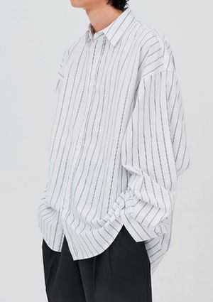 OPEN THE DOOR●韓国BRAND●DADDY-FIT STRIPE SHIRTS (3色)