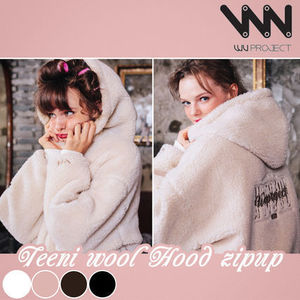 WV PROJECT★Teeni Wool Hood Zip-up 4カラー - MJHD7194