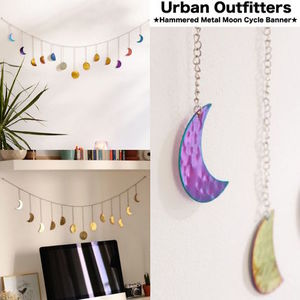【Urban Outfitters】壁飾りガーランド●Metal Moonオーナメント