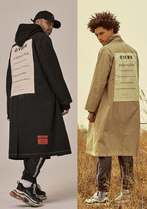 ★OVERR★18SS POSTCARD COAT★BLACK/BEIGE 2色★トレンチコート
