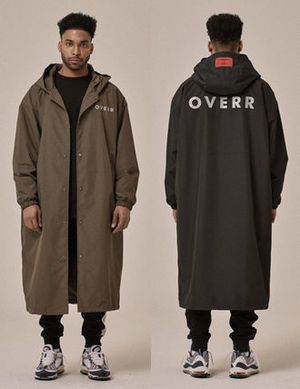 ★OVERR★18SS BLACK/BROWN RAIN COAT★2色★レインコート