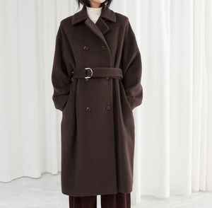 """& Other Stories"" Duo D-Ring Belted Coat Brown"