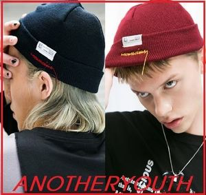 ANOTHERYOUTH★lettering short beanie ビーニー/安心追跡