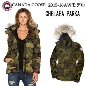 CanadaGoose2015-16AW新作Lady'sChelsea Parka 迷彩カラー