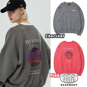★ONA★ BASEMENT NAPPING WASHING SWEAT SHIRTS(全2色)