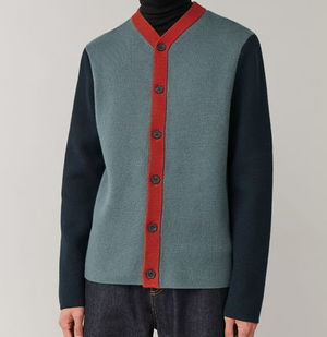 """COS MEN"" COTTON-MERINO KNIT DARKTURQUOISE"