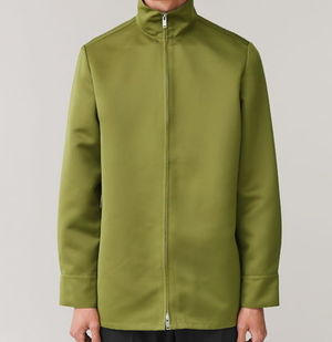"""COS MEN"" FUNNEL-NECK SHIRT JACKET OLIVEGREEN"