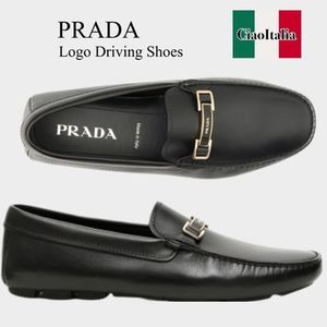 Prada logo driving shoes