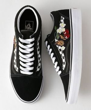 ★UNISEX★[VANS]UA OLD SKOOL CHECKER FLORAL