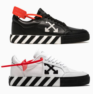 OFF WHITE 19FW ARROW LOGO LEATHER VULC SNEAKERS