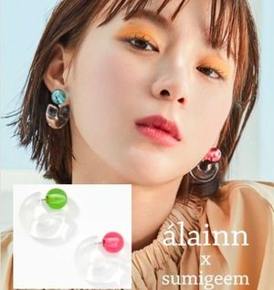 韓国発【alainn】bold transparent earring  TWICEチェヨン着用