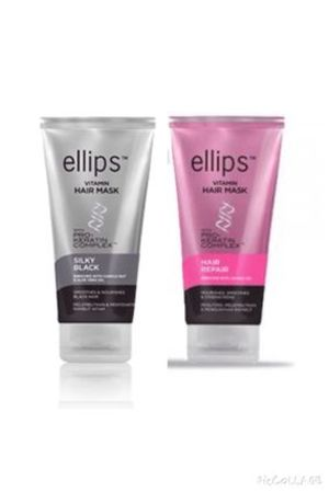 ellips ヘアマスク 2種セット!SILKY BLACK / HAIR REPAIR