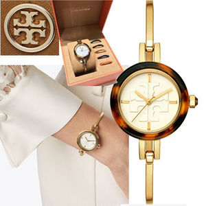 格安!Tory Burch GIGI BANGLE WATCH, MULTI-COLOR/GOLD-TONE