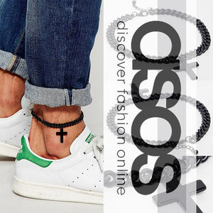 ASOS☆Anklet With Cross In Black☆アンクレット