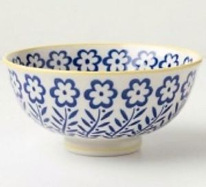 【在庫有】Anthropologie♡Flower Printed Bowl 2個セット