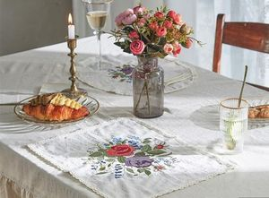 【DECO VIEW】 Marseille embroidered table mats (2type)