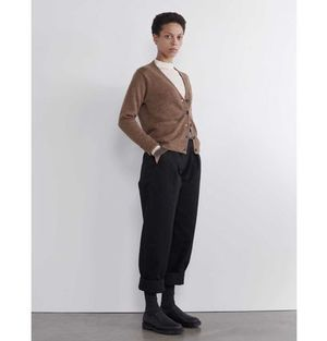 MHL. ONE POCKET CARDIGAN PURE WOOL GINGER