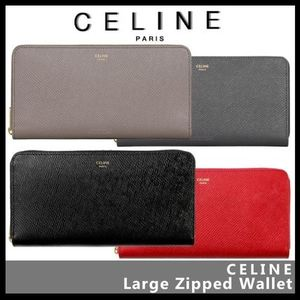 【CELINE】Large zipped wallet 10B553BEL
