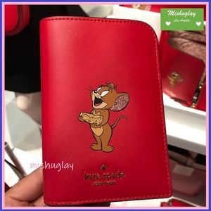 【kate spade×tom & jerry】コラボ★パスポートケース★