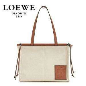 ∞∞ LOEWE ∞∞ Cushion small leather-trimmed canvas トート