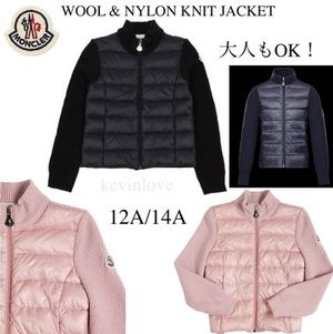 大人もOK!モンクレール WOOL & NYLON KNIT JACKET 12A/14A
