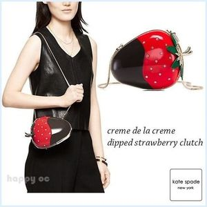 新作セール キュート 苺 *kate spade* dipped strawberry clutch