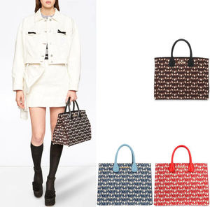 MM972 JACQUARD & LEATHER TOTE