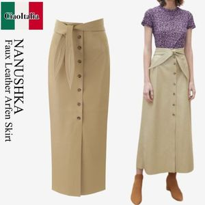 Nanushka Faux Leather Arfen Skirt