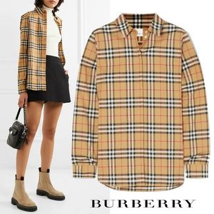 ∞∞ Burberry ∞∞ Vintage check コットンシャツ☆