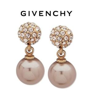 Sale!【GIVENCHY】クリスタル&パール入りピアス(Rose Gold)